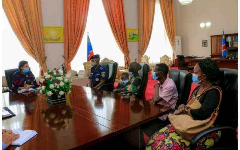 RDC – Assemblée Nationale : Jeanine Mabunda a reçu la famille du policier ayant été lynché lors d'une marche organiser par l'Udps le 09 juilletdernier